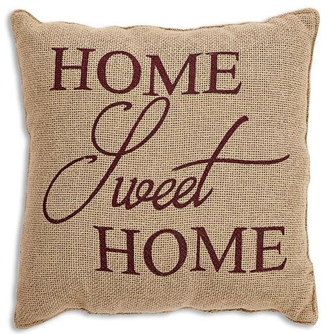 HOME SWEET HOME BURGANDY PILLOW - Avenue of Oaks Decor