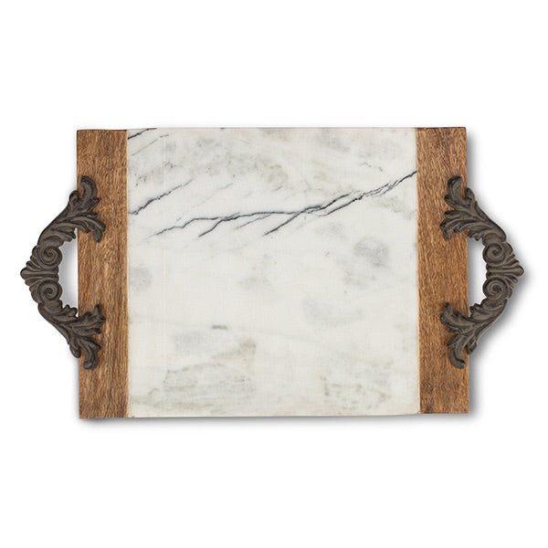 The GG Collection Gracious Antiquity Marble Cutting/Serving Board - Large - Avenue of Oaks Decor