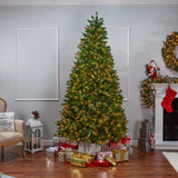 Stone Pine 9ft Christmas Tree, Pre-Lit Clear Lights - Avenue of Oaks Decor