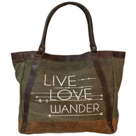 LIVE LOVE WANDER TOTE BAG - Avenue of Oaks Decor