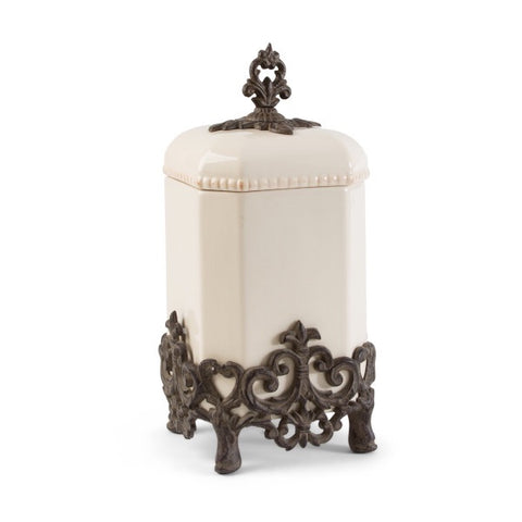 "The GG Collection Gracious 15""H Provencial Canister - Avenue of Oaks Decor"