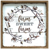 FARM SWEET FARM COTTON SIGN - Avenue of Oaks Decor