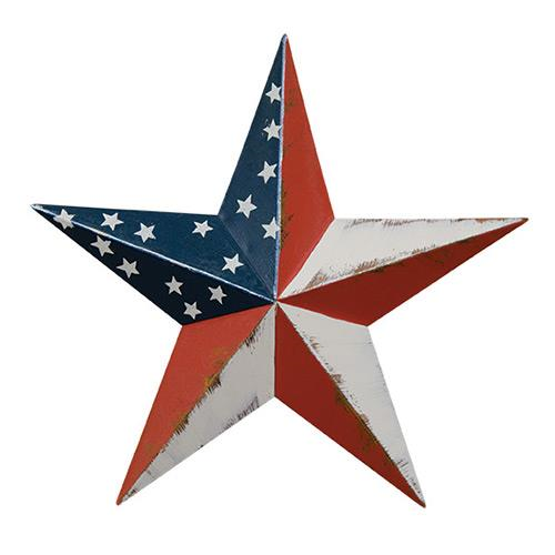 SMALL AMERICAN FLAG BARN STAR - Avenue of Oaks Decor