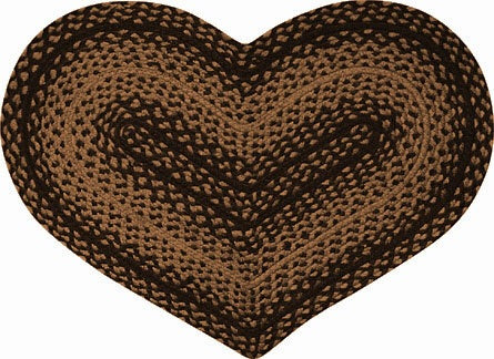 Braided Ebony Heart Rug - Avenue of Oaks Decor