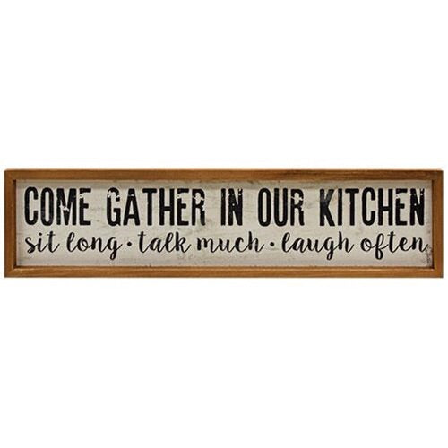 GATHER IN OUR KITCHEN SIGN - Avenue of Oaks Decor