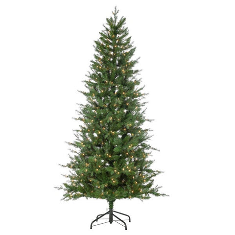 Natural Cut Manitoba Pine, 7.5 ft., 400 UL Clear Lights - Avenue of Oaks Decor