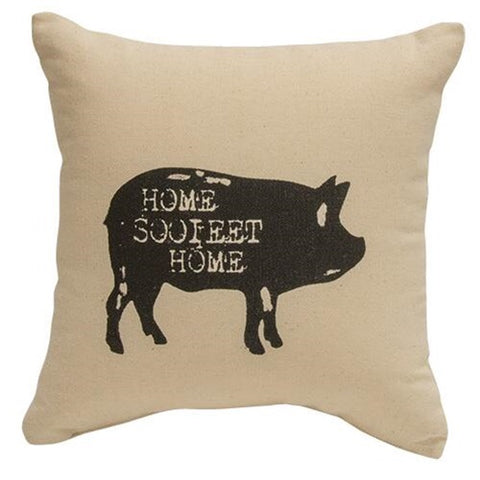 HOME SOOIEET HOME FARMHOUSE PIG ACCENT PILLOW - Avenue of Oaks Decor