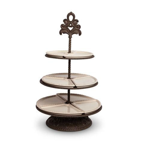 The GG Collection Gracious Goods Three Tier Server - Avenue of Oaks Decor