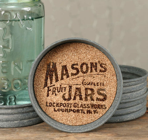 MASON JAR LID COASTER - LOGO - SET OF 4 - Avenue of Oaks Decor