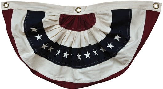 NATURAL AMERICAN FLAG BUNTING - Avenue of Oaks Decor
