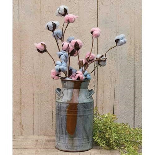 COTTON STEM PINK AND BLUE SET OF 12 - Avenue of Oaks Decor