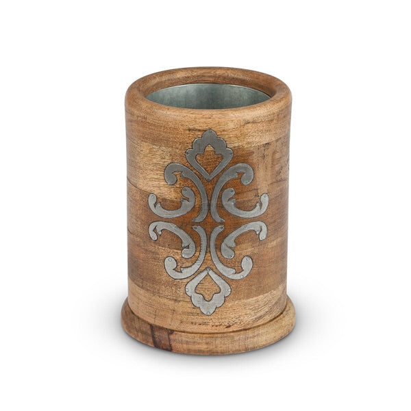 The GG Collection Gracious Goods Wood And Metal Wine Chiller - Avenue of Oaks Decor