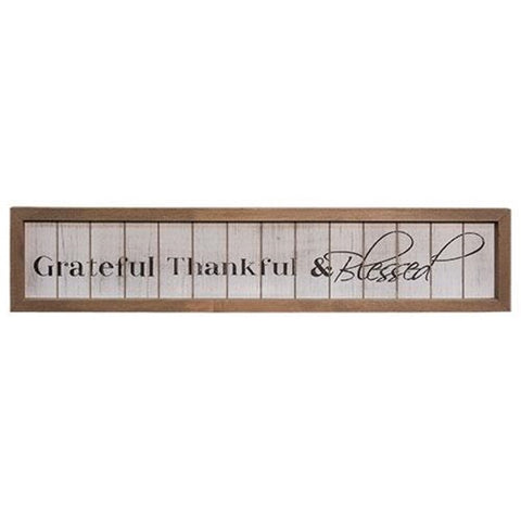 GREATFUL THANKFUL AND BLESSED SHIPLAP SIGN - Avenue of Oaks Decor