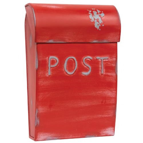 RED VINTAGE POST BOX - Avenue of Oaks Decor