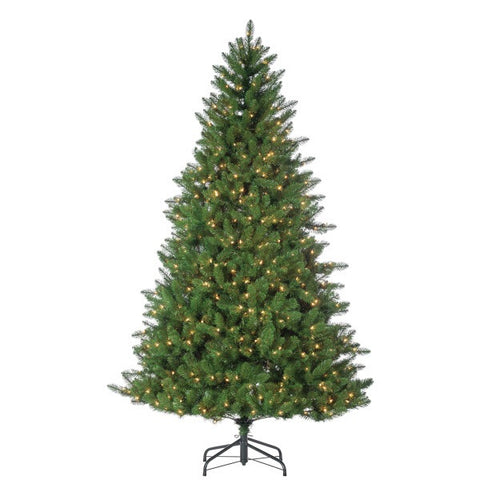 Stone Pine, 7.5ft Pre-lit Clear Lights - Avenue of Oaks Decor