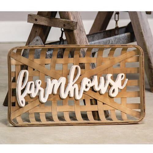 TOBACCO FARMHOUSE BASKET WALL ART - Avenue of Oaks Decor