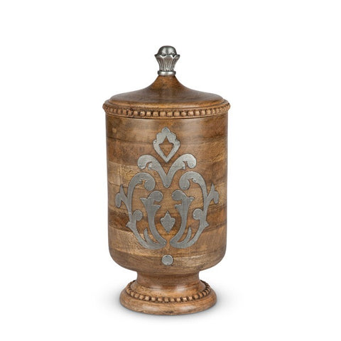 The GG Collection Gracious Goods Wood And Metal Large Canister Heritage Collection - Avenue of Oaks Decor
