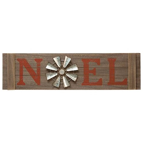 NOEL WINDWILL CHRISTMAS SIGN - Avenue of Oaks Decor