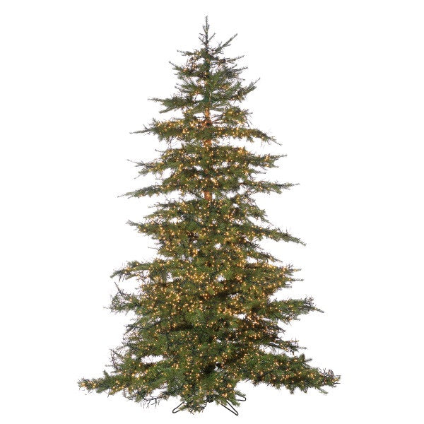 LED Natural Cut Monaco Pine with Warm White Micro Lights, 7.5 ft. - Avenue of Oaks Decor