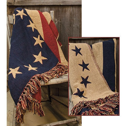 OLD GLORY WOVEN THROW - Avenue of Oaks Decor