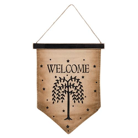 WILLOW WELCOME FLAG - Avenue of Oaks Decor