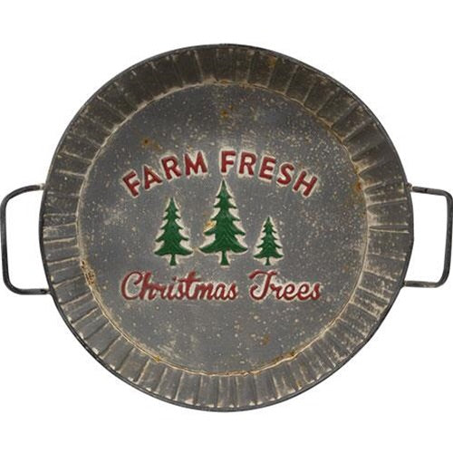 Farm Fresh Trees Metal Tray