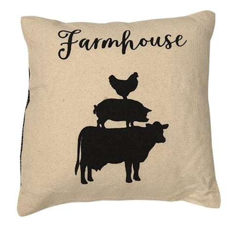 STACKED FARMHOUSE ANIMALS ACCENT PILLOW - Avenue of Oaks Decor