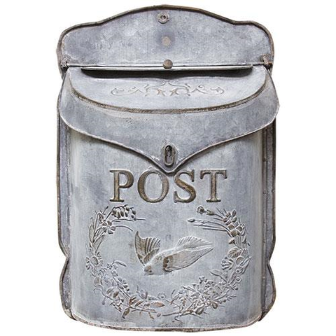 VINTAGE STYLE METAL POST BOX - Avenue of Oaks Decor