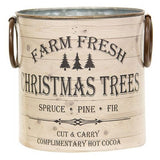 Farm Fresh Christmas Trees Buckets, Set Of 2 - Avenue of Oaks Decor