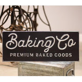BAKING CO. BLACK AND SILVER METAL SIGN - Avenue of Oaks Decor