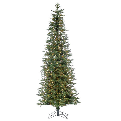 Natural Cut Narrow Jackson Pine Artificial Christmas Tree - Avenue of Oaks Decor