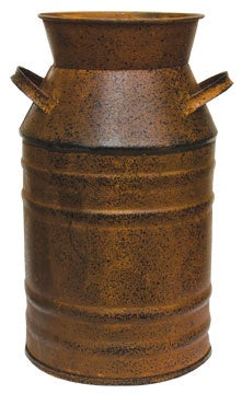 RUSTY MILK CAN, 7 inch - Avenue of Oaks Decor
