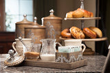The GG Collection Gracious Goods Wood And Metal Cream And Sugar Set Heritage Collection - Avenue of Oaks Decor