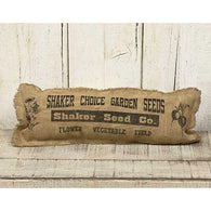 BURLAP SACK GARDEN SEED ACCENT PILLOW - Avenue of Oaks Decor