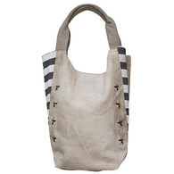 STAR STUDDED CANVAS TOTE BAG - Avenue of Oaks Decor