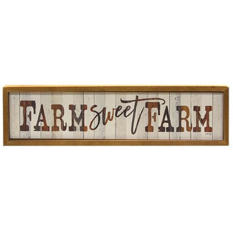 FARM SWEET FARM RUSTIC WOODEN SIGN - Avenue of Oaks Decor
