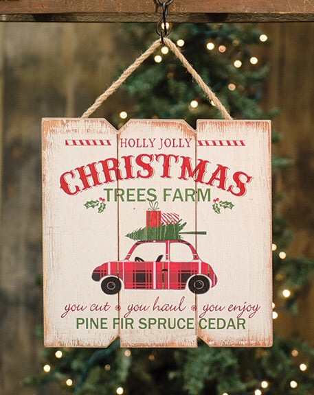 Holly Jolly Tree Farm Hanger - Avenue of Oaks Decor