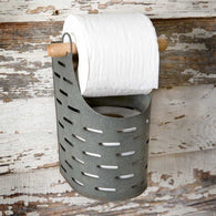 OLIVE BUCKET TOILET PAPER HOLDER - Avenue of Oaks Decor