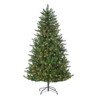 Stone Pine, 6.5ft Pre-lit Clear Lights - Avenue of Oaks Decor