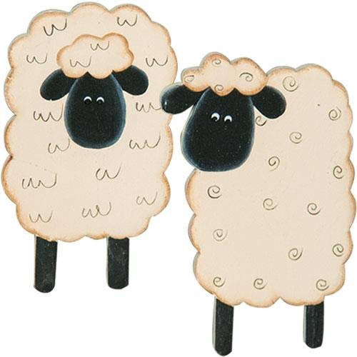 FARMHOUSE SHEEP MAGNETS, SET OF 4 - Avenue of Oaks Decor