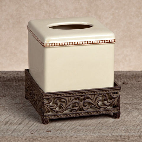 The GG Collection Gracious Goods Acanthus Leaf Tissue Holder - Avenue of Oaks Decor