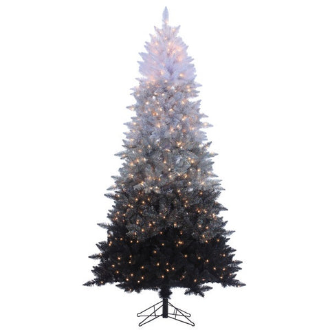 Vintage Black Ombre Spruce 7.5 ft., 600 UL Clear Lights, 1364 Tips, 48 in. Base Width - Avenue of Oaks Decor