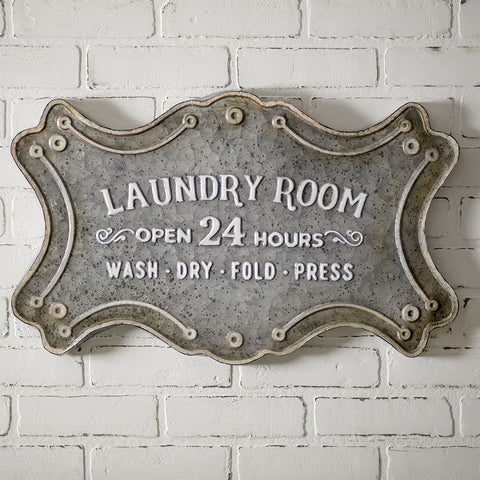 Laundry Room Metal Sign - Avenue of Oaks Decor