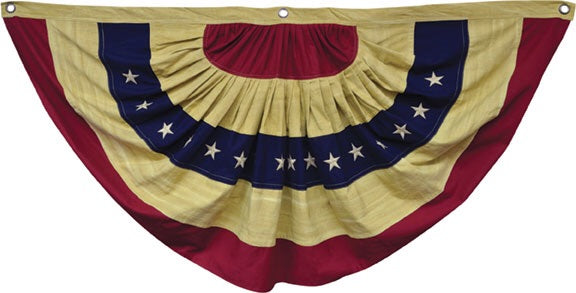 PRIMITIVE AGED AMERICAN FLAG BUNTING - Avenue of Oaks Decor