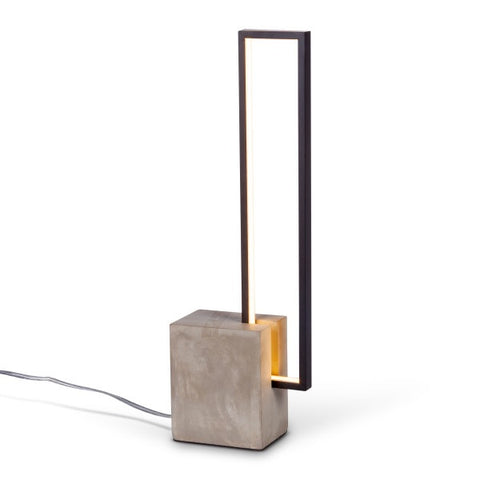 Modern LED Rectangle Concrete Base Table Lamp - Avenue of Oaks Decor