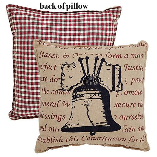 INDEPENDENCE BELL 4th OF JULY ACCENT  PILLOW - Avenue of Oaks Decor