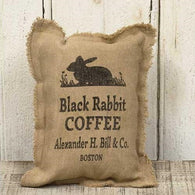 BOSTON COFFEE BURLAP SACK ACCENT PILLOW - Avenue of Oaks Decor