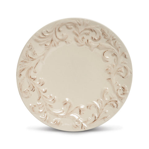 "The GG Collection Gracious Goods 8.5""D Acanthus Leaf Salad Plate, Set Of 4 - Avenue of Oaks Decor"