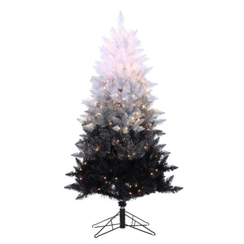 Vintage Black Ombre Spruce 5 ft., 250 UL Clear Lights, 558 Tips, 34 in. Base Width - Avenue of Oaks Decor