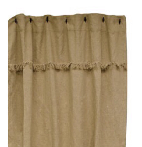 BURLAP FARMHOUSE SHOWER CURTAIN